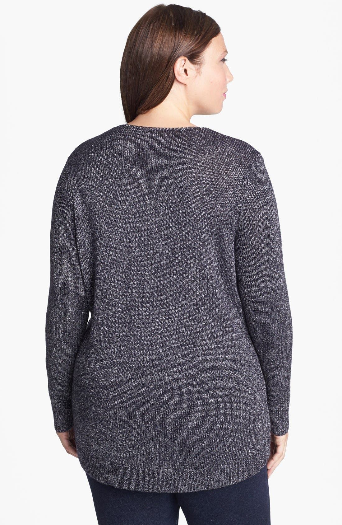 Alternate Image 2  - Sejour Chain Detail Sweater (Plus Size)