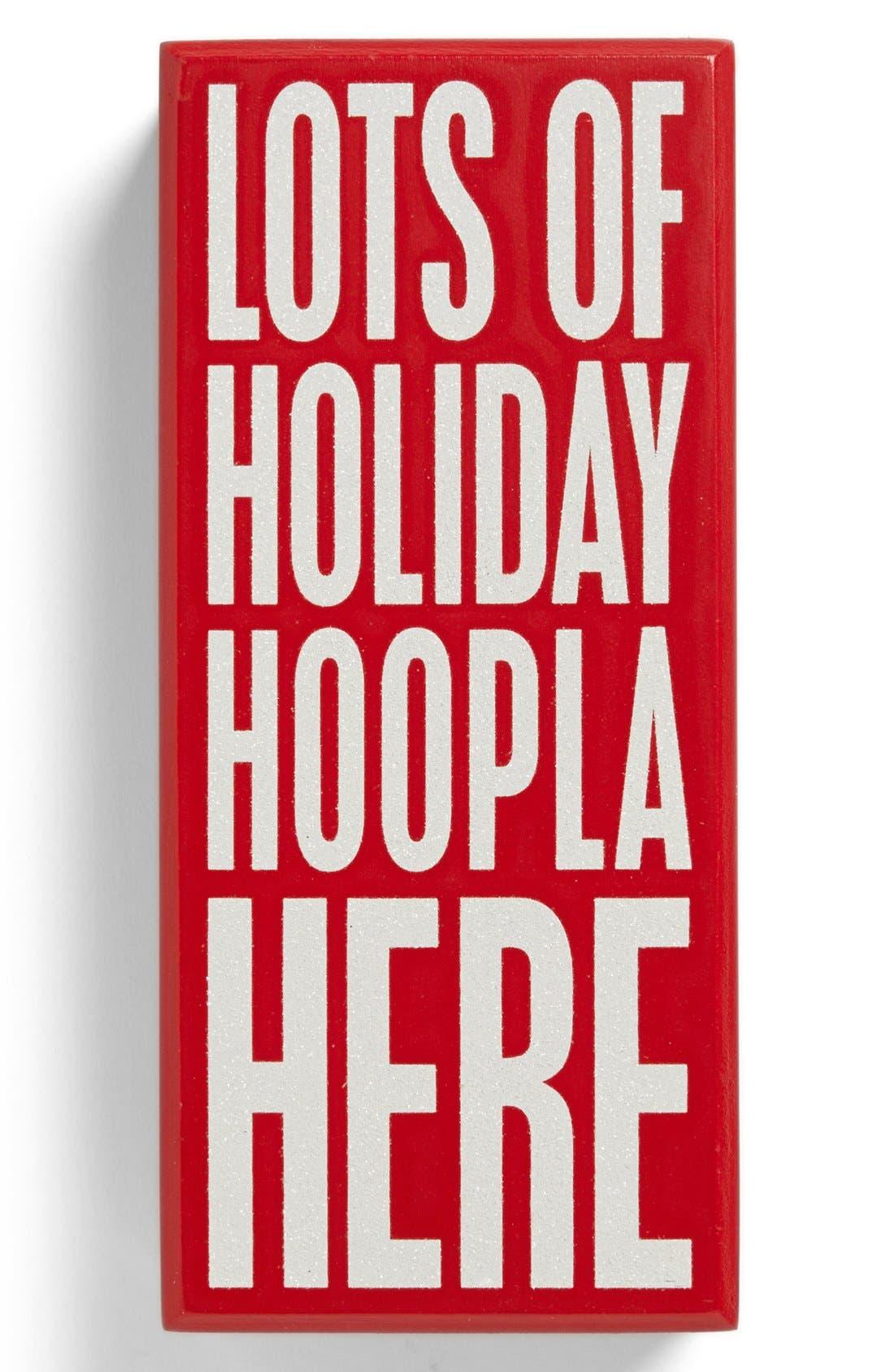 Main Image - Primitives by Kathy 'Holiday Hoopla' Box Sign