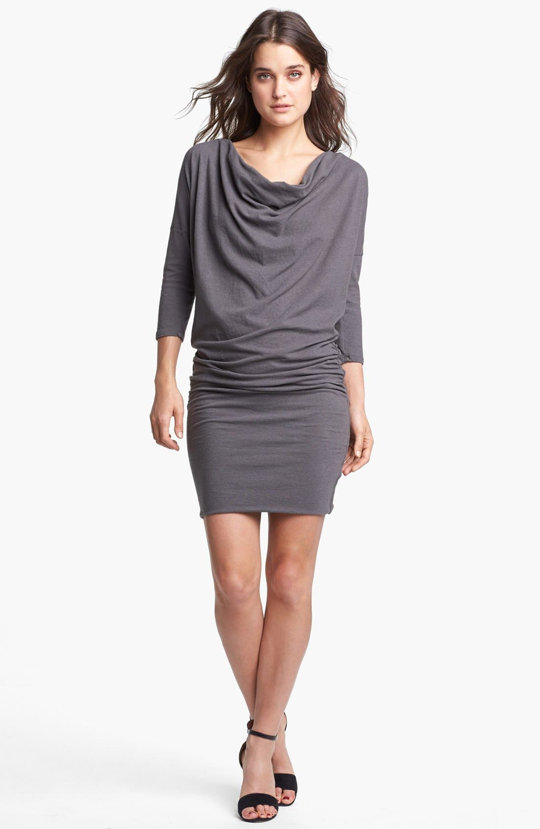 Main Image - James Perse Cowl Neck Dolman Sleeve Dress