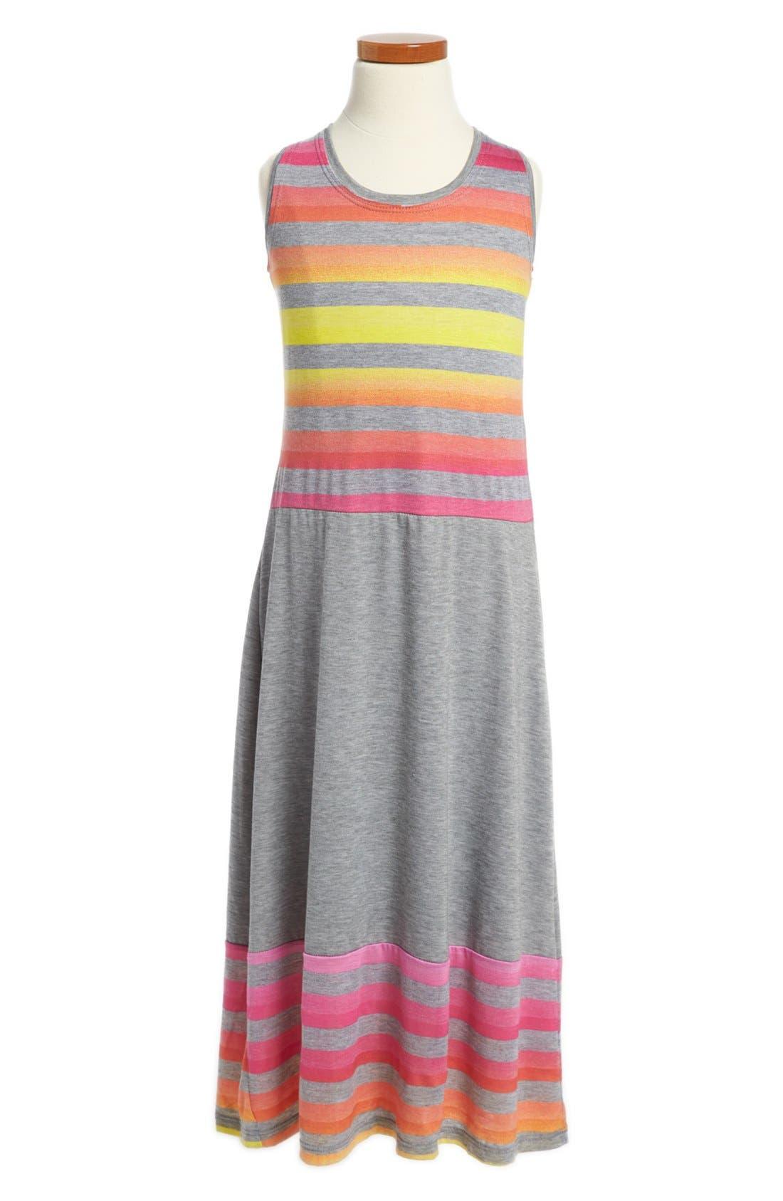 Alternate Image 1 Selected - Zunie Stripe Maxi Dress (Little Girls & Big Girls)