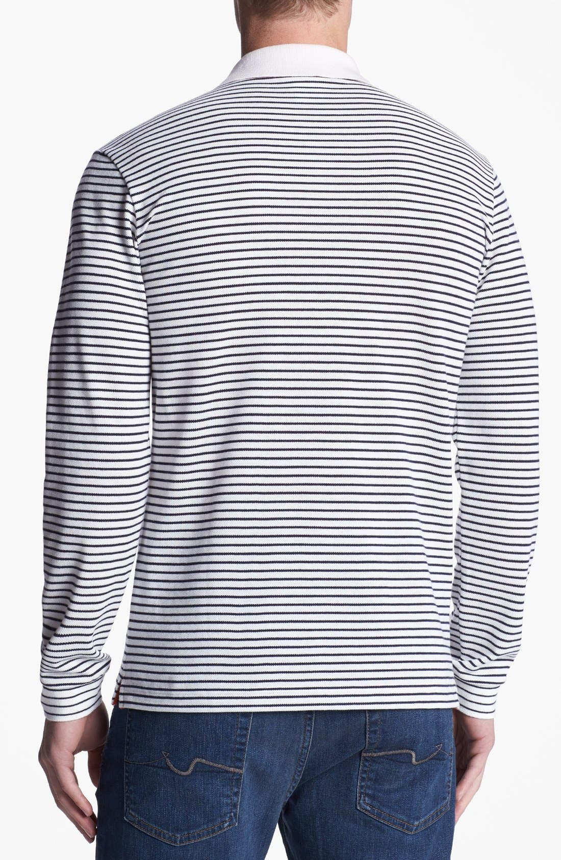 Alternate Image 2  - Lacoste Stripe Double Face Long Sleeve Polo