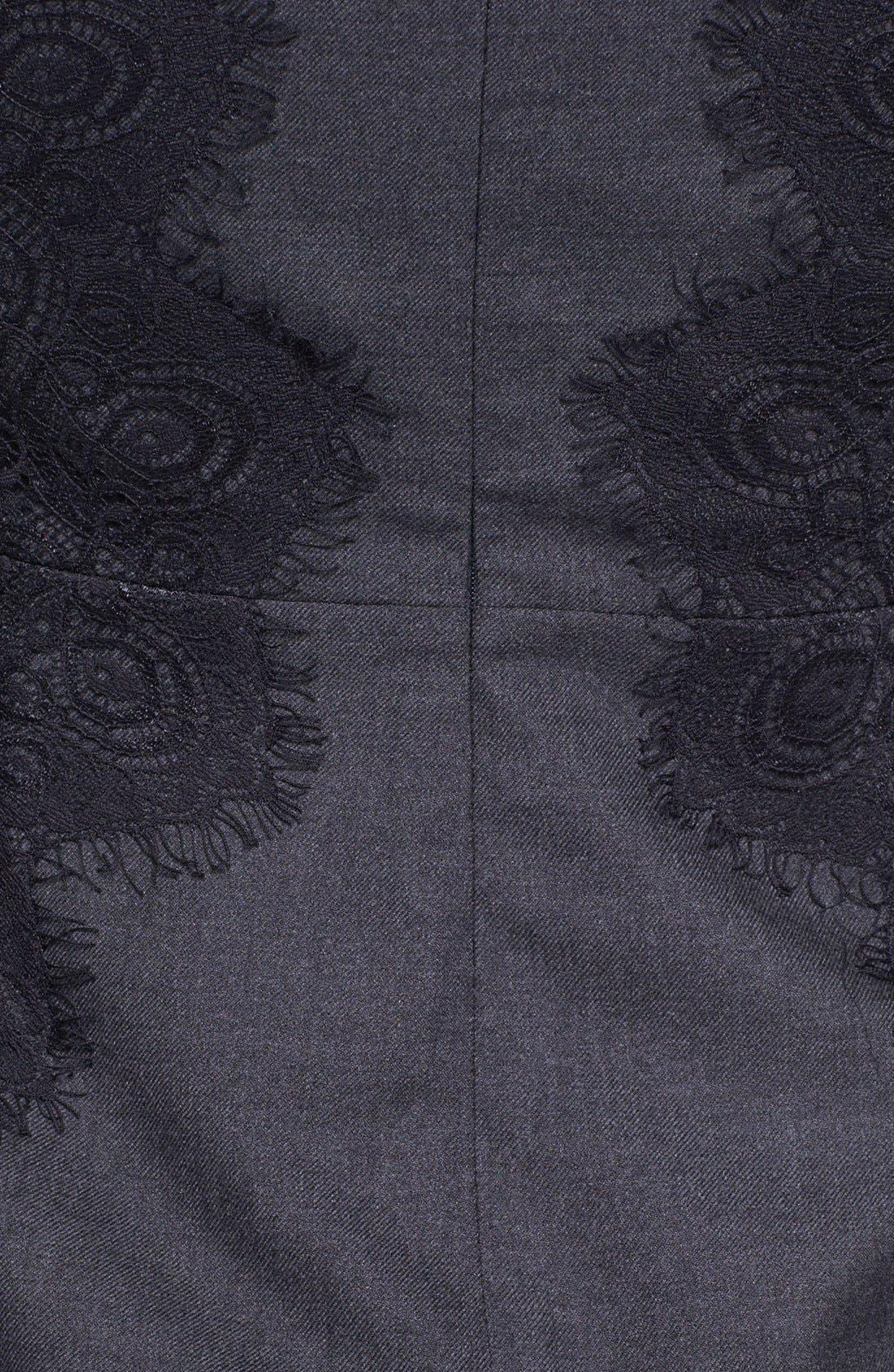 Alternate Image 3  - Tory Burch 'Laney' Lace & Stretch Wool Sheath Dress