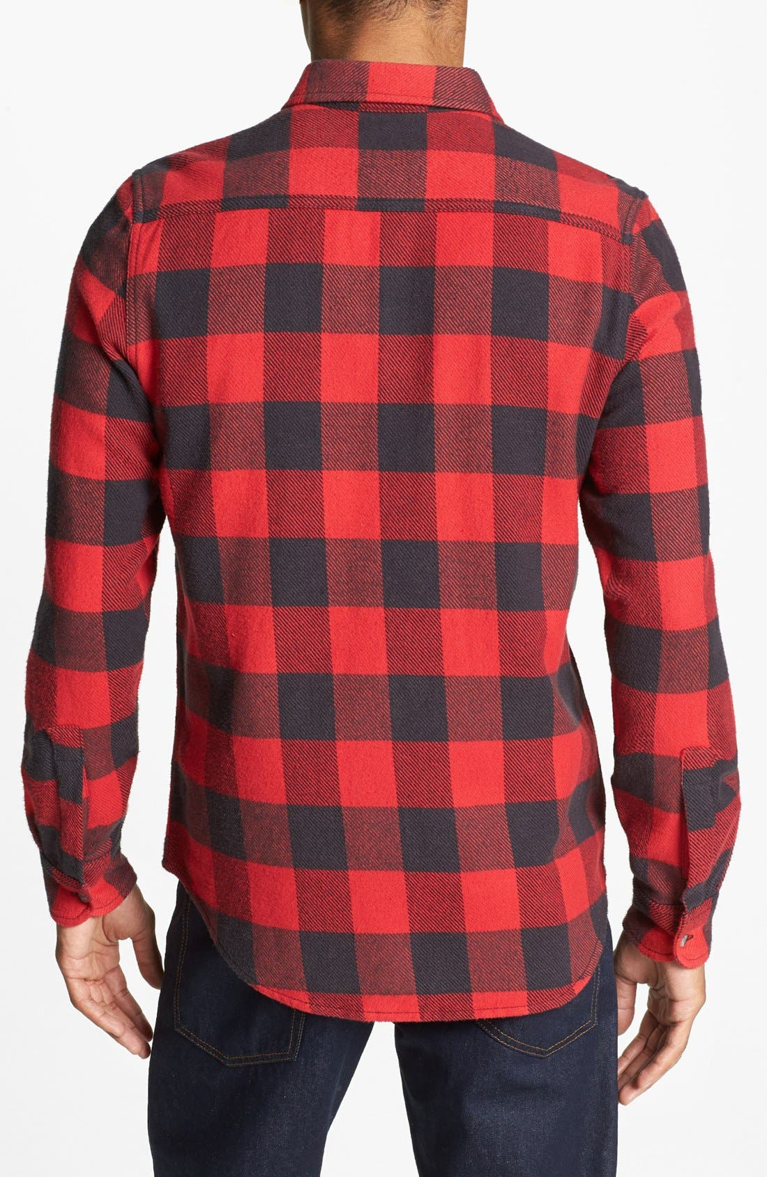 Alternate Image 2  - Topman Classic Fit Buffalo Check Shirt