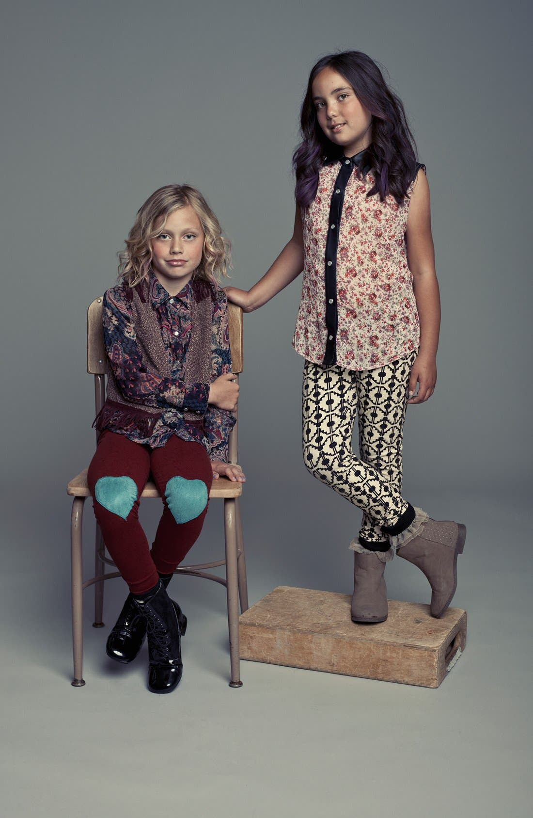 Alternate Image 2  - Mia Chica Mixed Media Top (Little Girls & Big Girls)