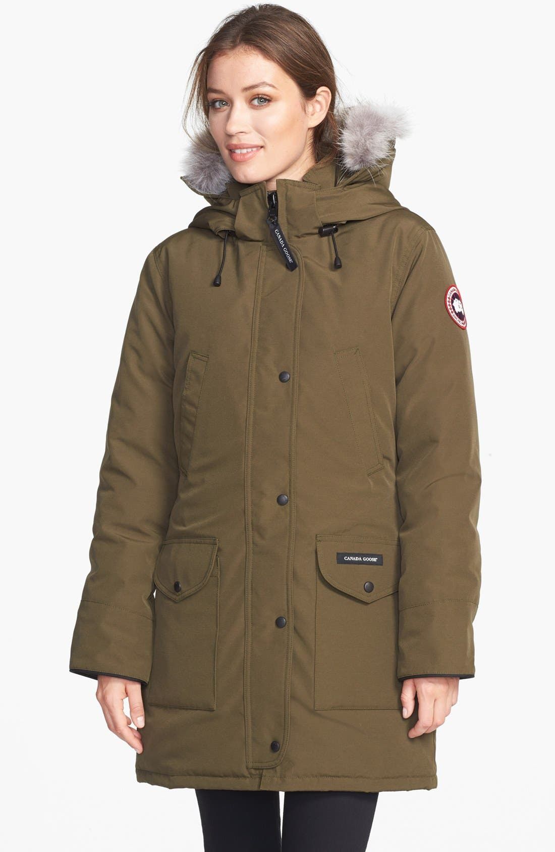 Alternate Image 1 Selected - Canada Goose 'Trillium' Regular Fit Down Parka with Genuine Coyote Fur Trim