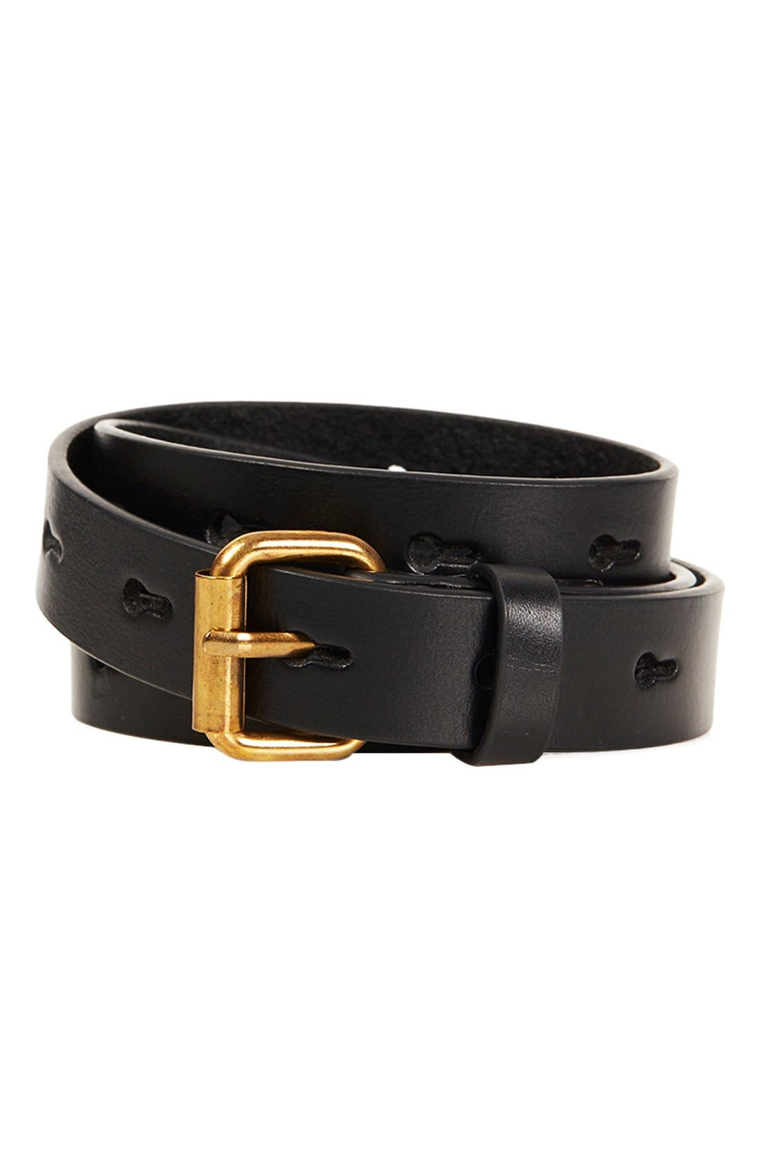 Alternate Image 1 Selected - Topshop Hole Punch Leather Belt