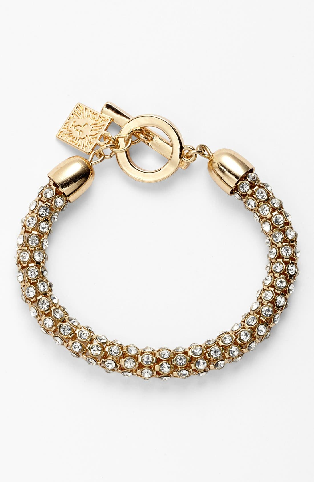 Alternate Image 1 Selected - Anne Klein Pavé Toggle Bracelet
