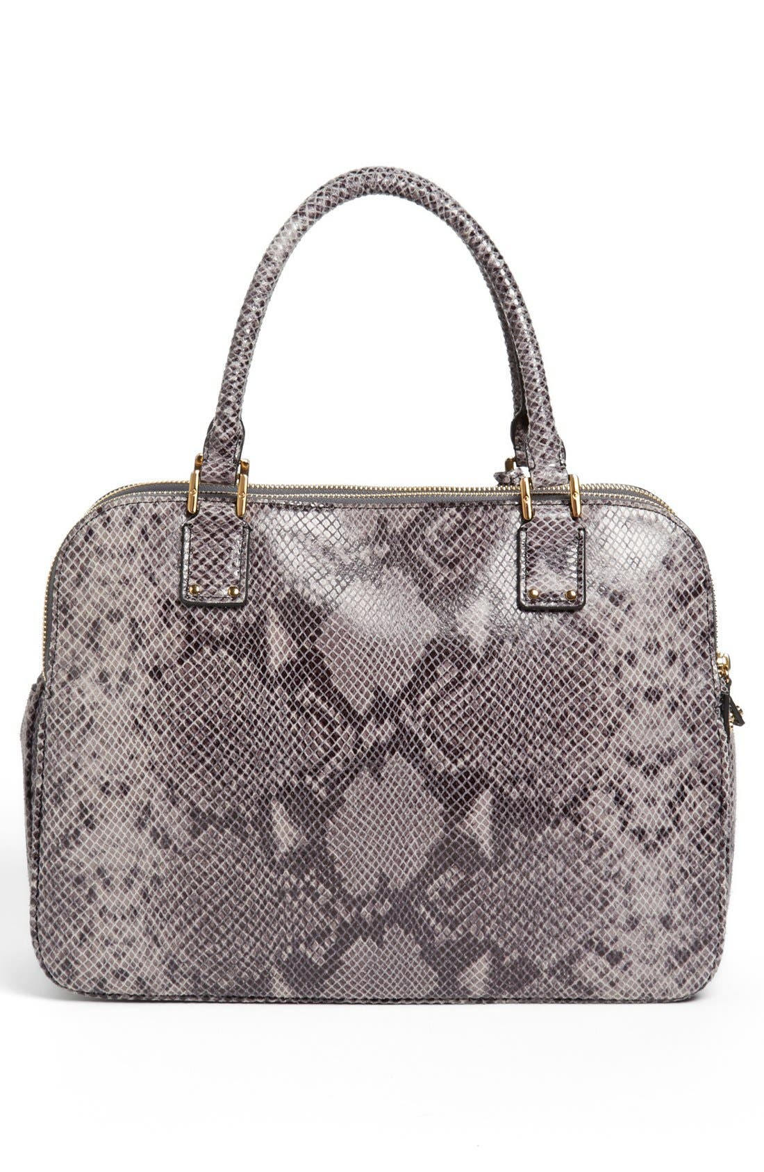 Alternate Image 4  - Tory Burch 'Thea' Snake Print Satchel, Medium