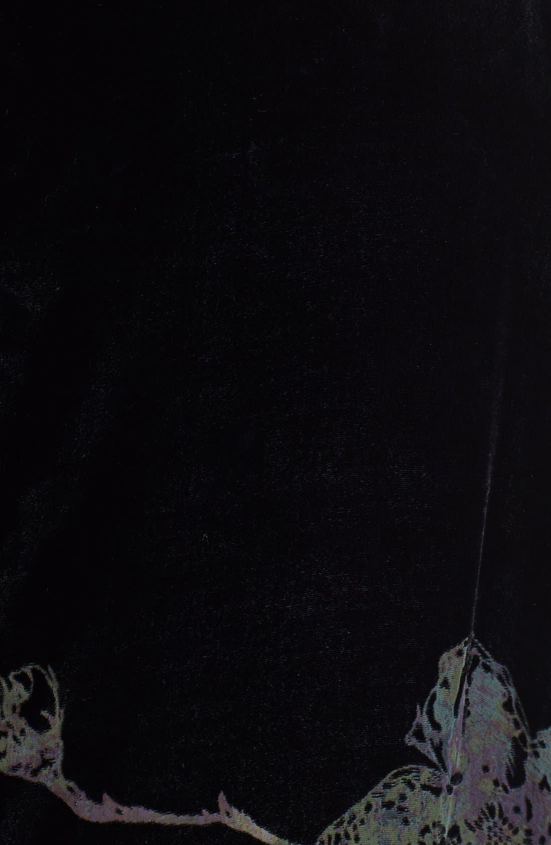 Alternate Image 3  - Citron Reversible Cowl Neck Velvet Top (Plus Size)