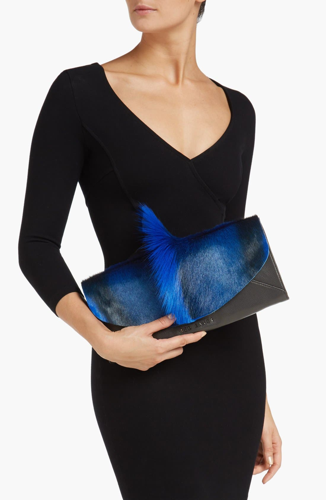 Alternate Image 2  - Ted Baker London Genuine Springbok Fur & Leather Clutch