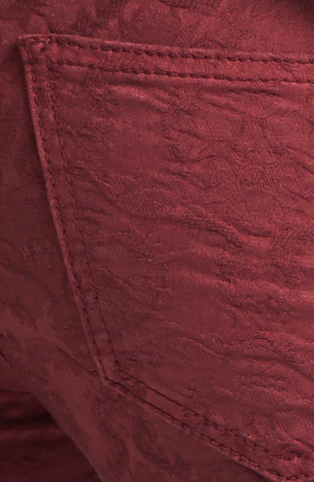 Alternate Image 3  - Free People Jacquard Skinny Jeans (Cranberry)
