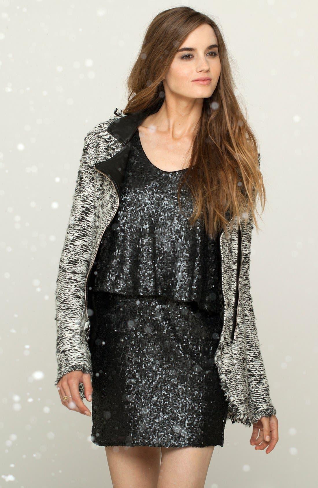 Alternate Image 4  - Ella Moss Draped Sequin Dress