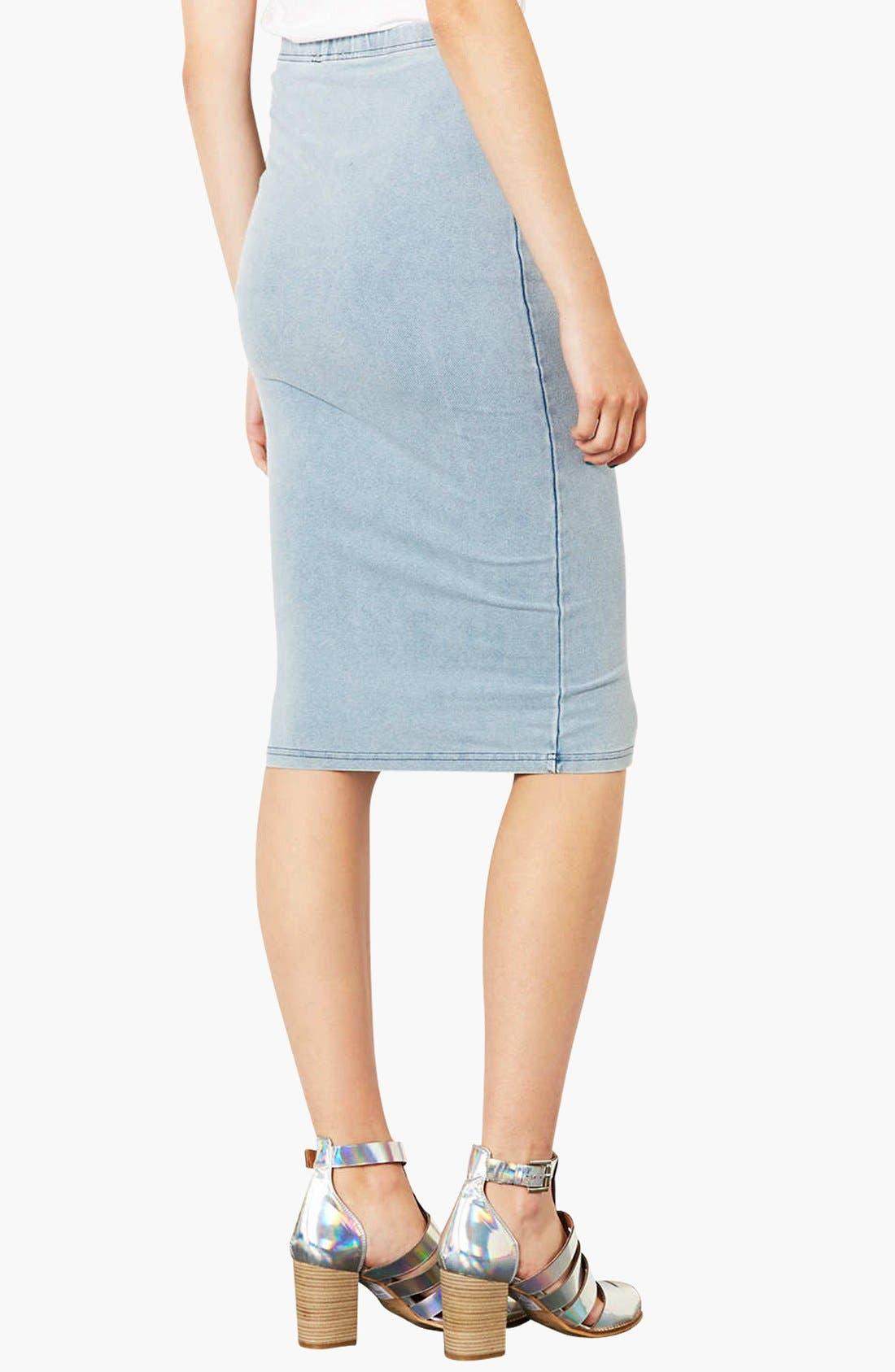 Alternate Image 2  - Topshop 'Denim Look' Tube Skirt