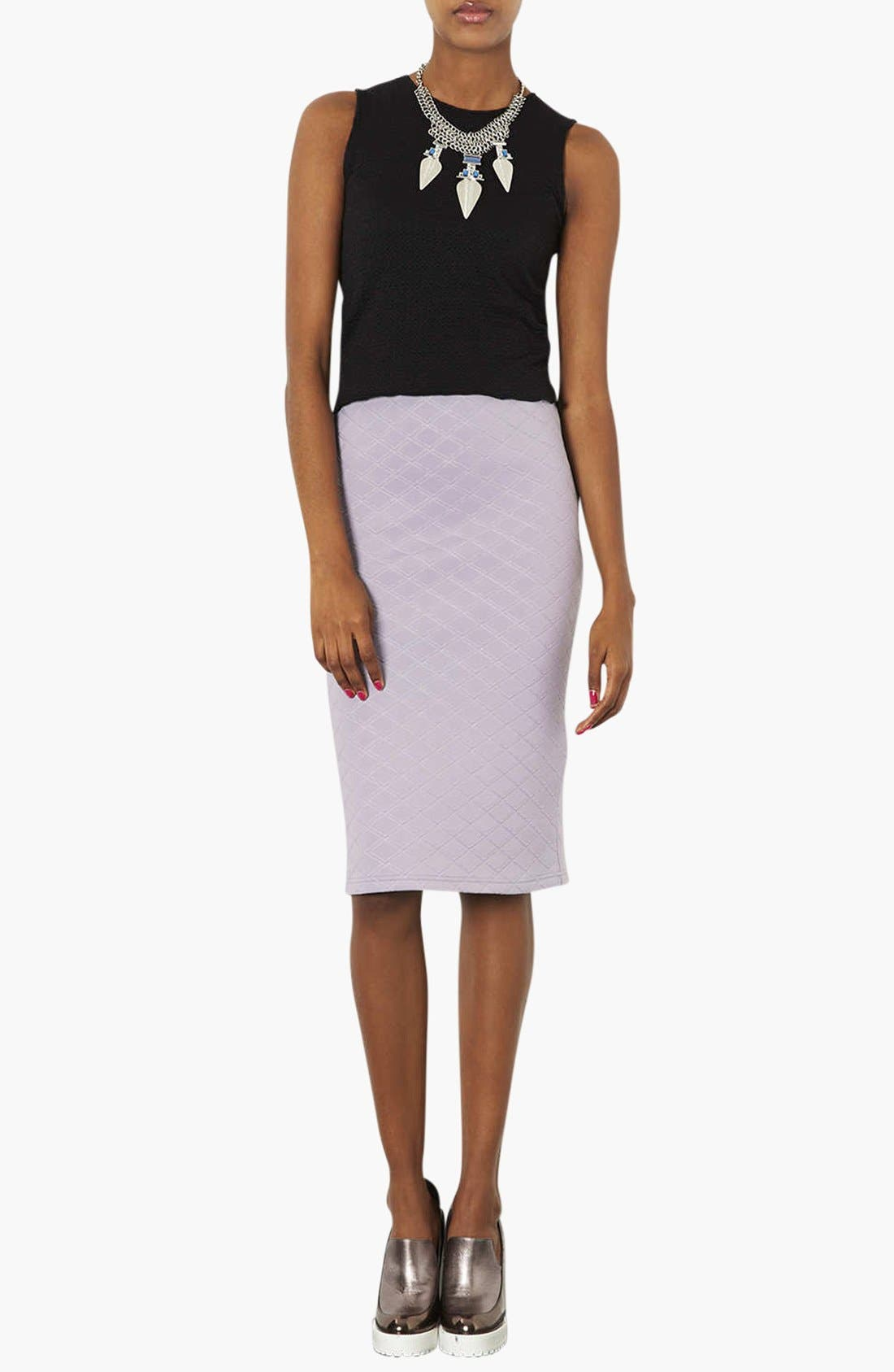 Alternate Image 3  - Topshop Quilted Tube Skirt