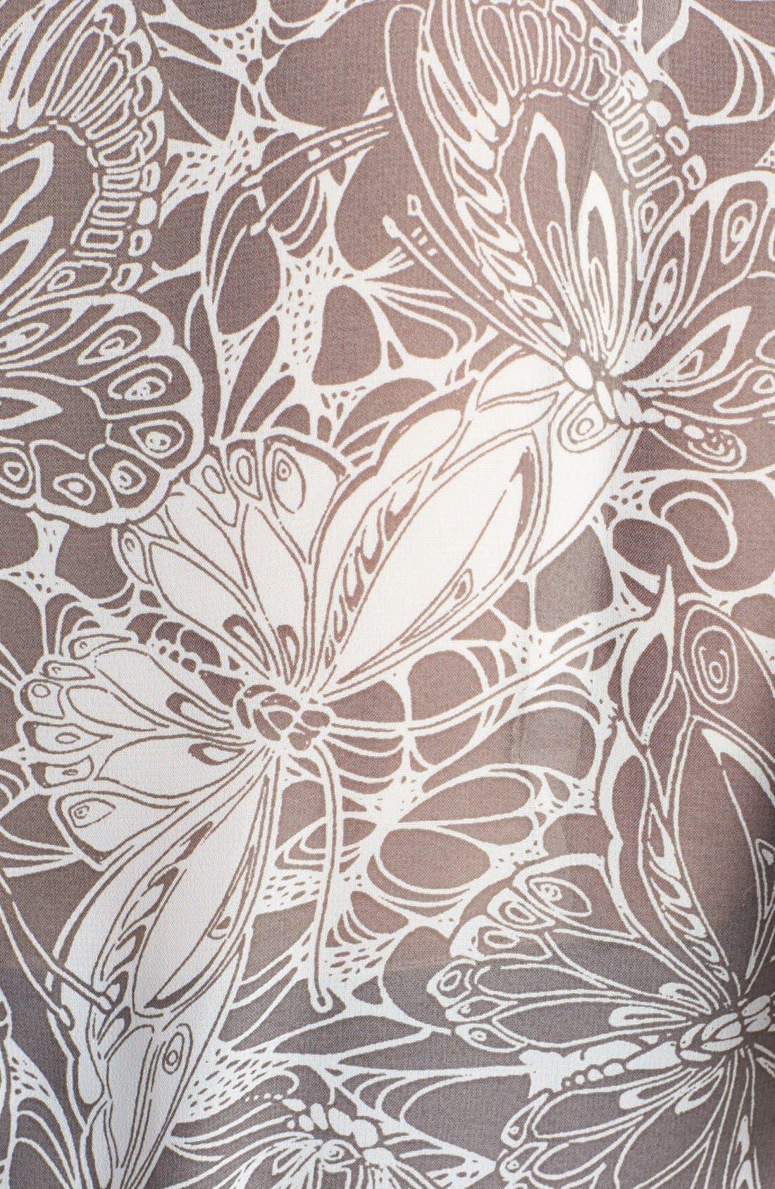 Alternate Image 3  - Evans Print Babydoll Top (Plus Size)