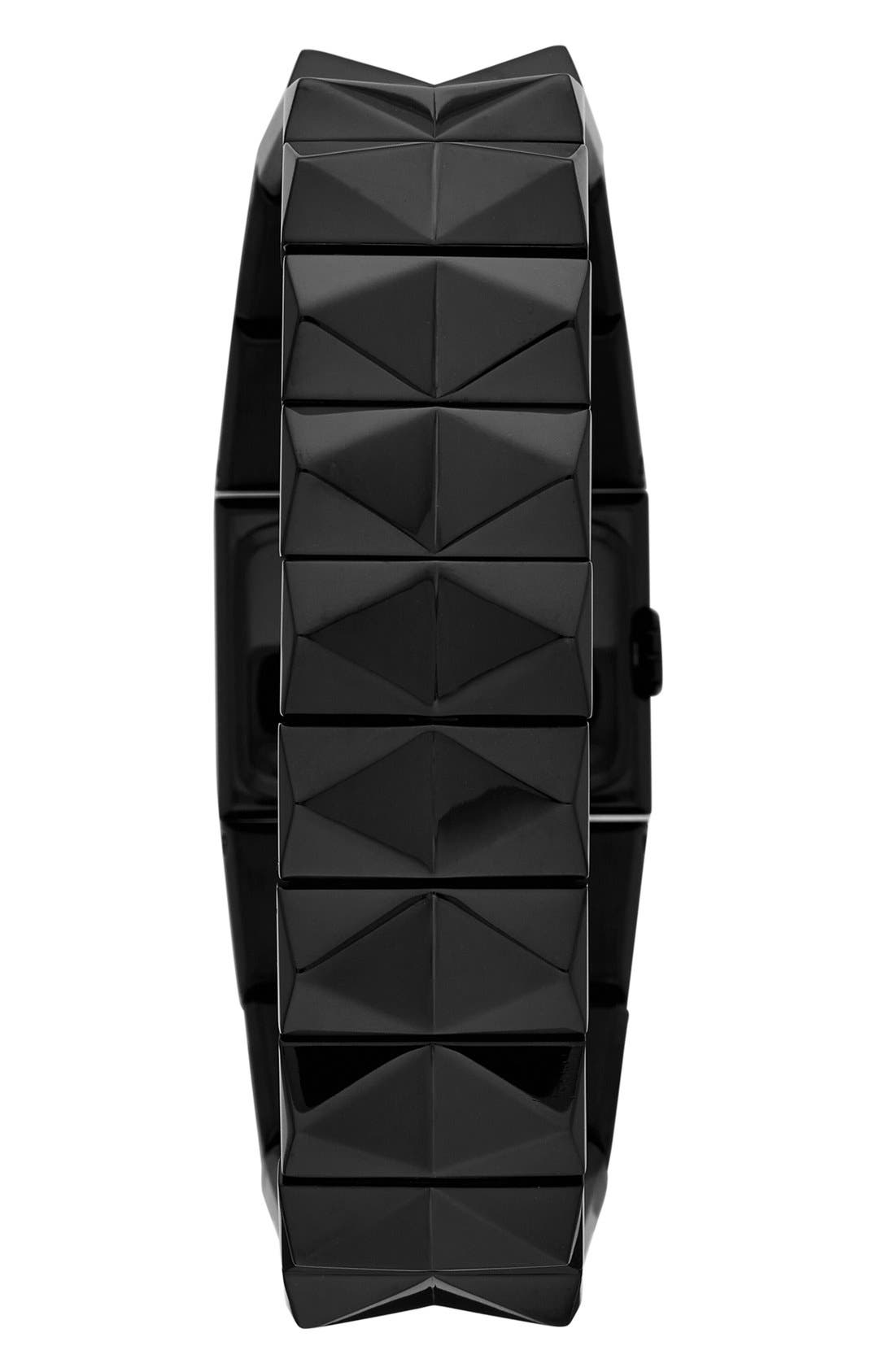 Alternate Image 2  - KARL LAGERFELD 'Perspektive' Pyramid Bracelet Watch, 27mm x 20mm