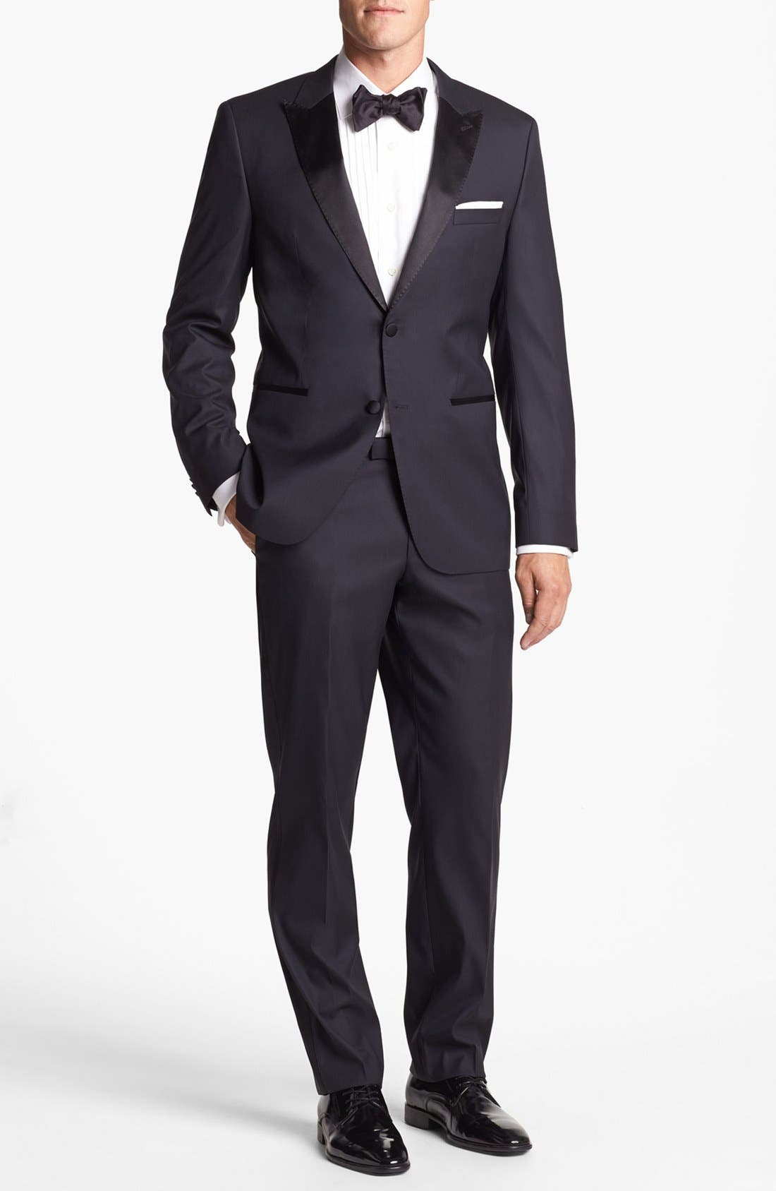 Alternate Image 1 Selected - BOSS HUGO BOSS 'Actor/Step' Trim Fit Tuxedo