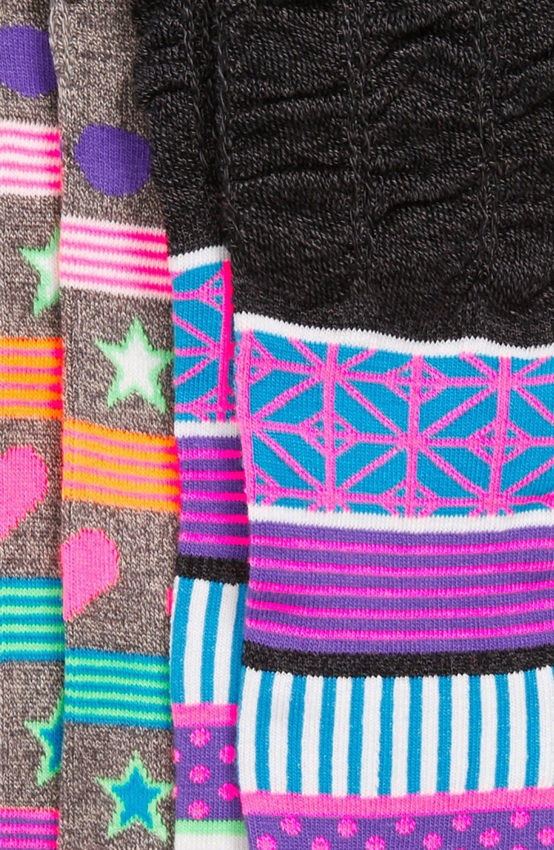 Alternate Image 2  - Nordstrom 'You're Glowing' Knee High Socks (2-Pack) (Toddler Girls, Little Girls & Big Girls)