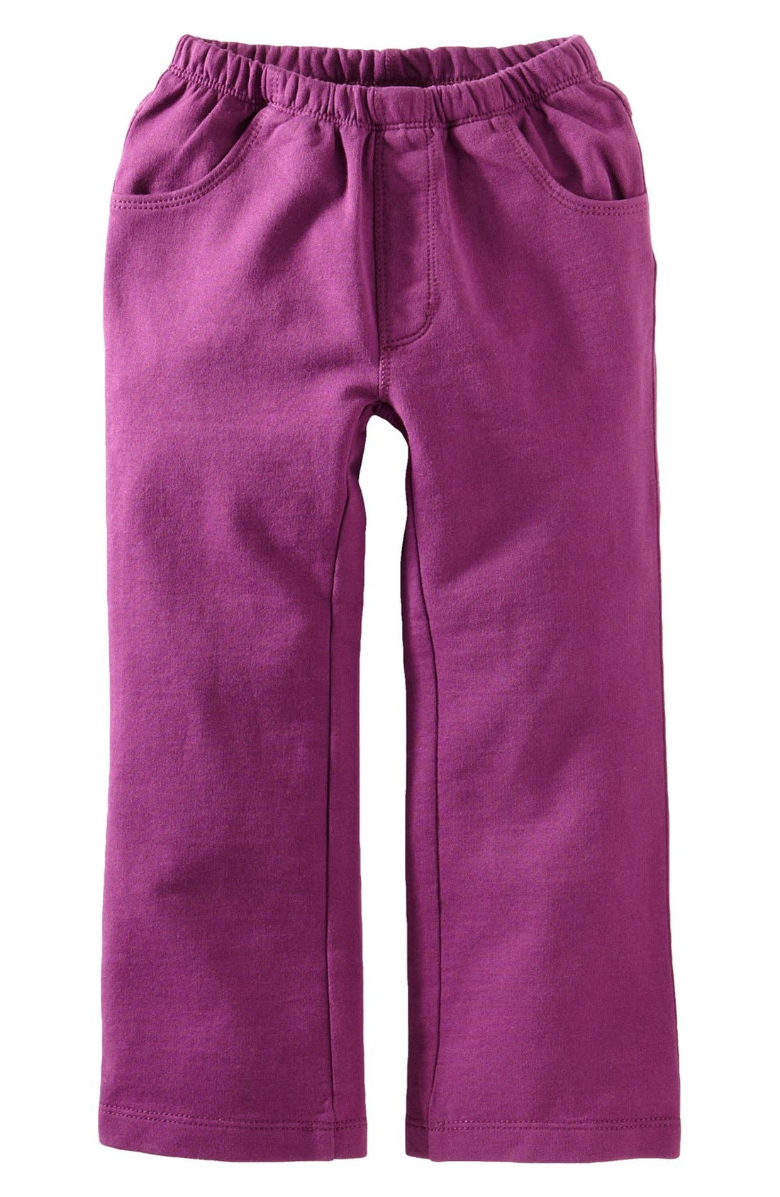 Main Image - Tea Collection Bootcut French Terry Pants (Little Girls & Big Girls)