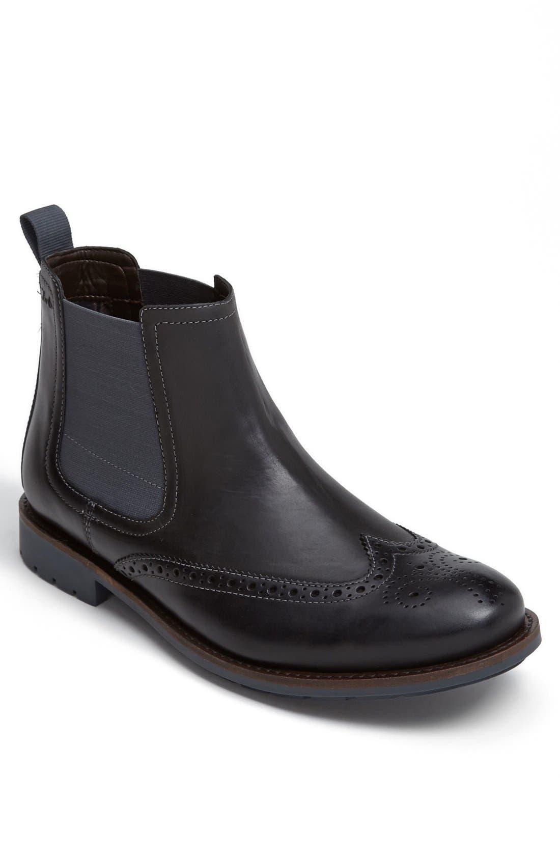 Main Image - Clarks® 'Garnet' Wingtip Chelsea Boot   (Men)