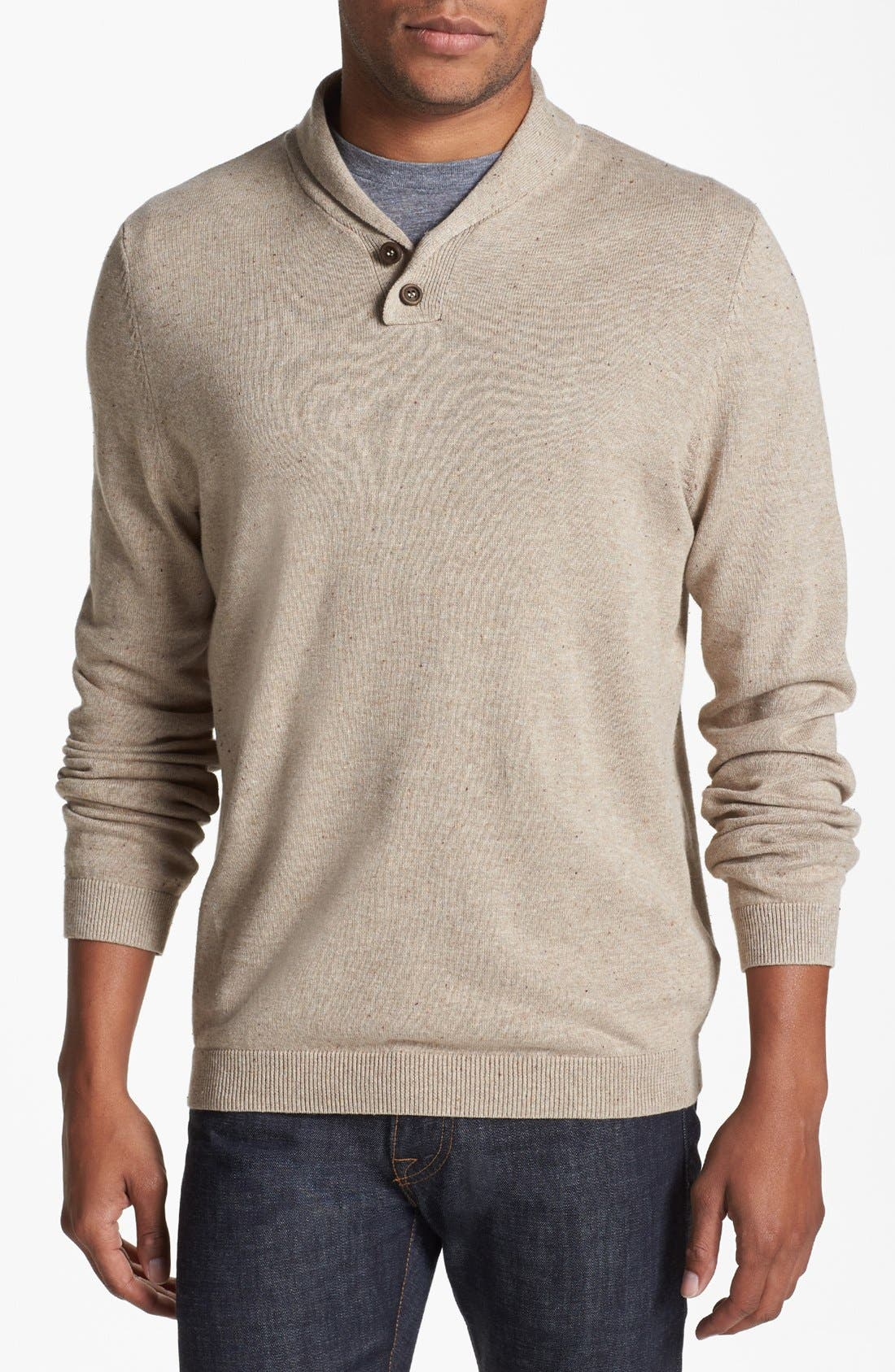 Alternate Image 1 Selected - Topman Shawl Sweater
