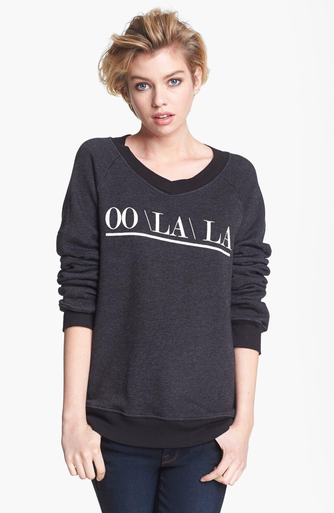 Alternate Image 1 Selected - Wildfox 'Oo La La' Sweatshirt