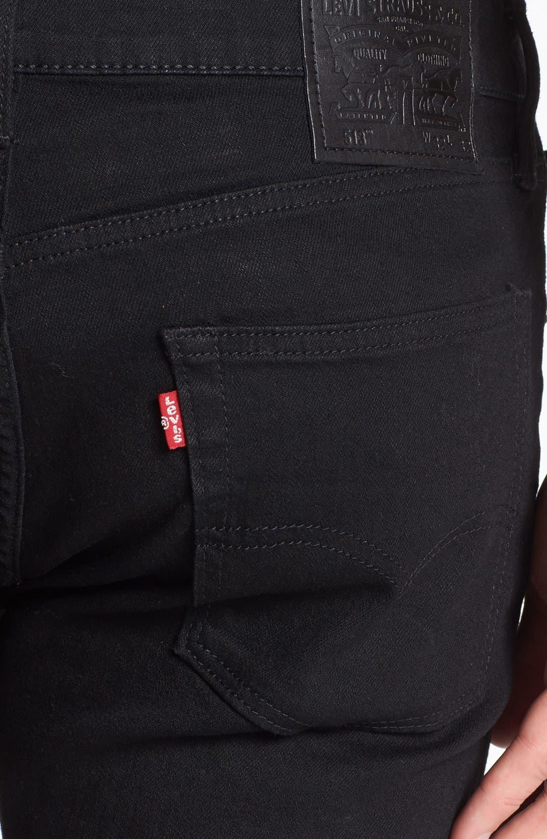 Alternate Image 4  - Levi's® 513™ Slim Straight Leg Jeans (Nightshine)