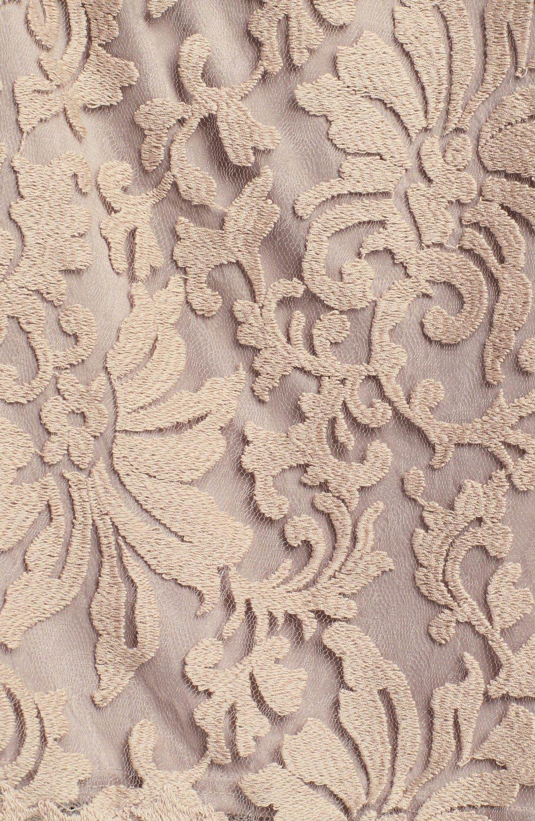 Alternate Image 3  - Tadashi Shoji One Shoulder Lace Peplum Dress