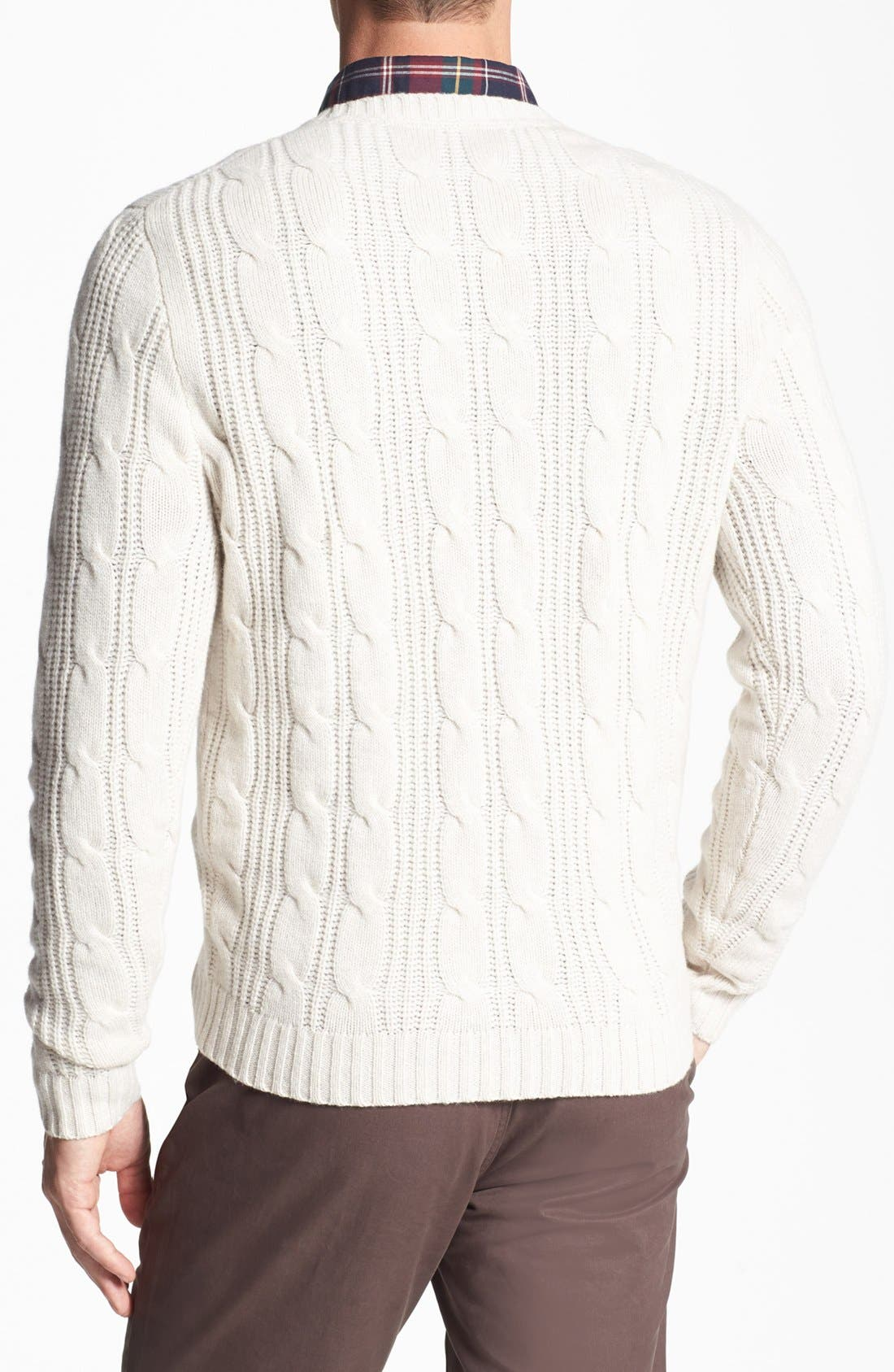 Alternate Image 2  - Wallin & Bros. Cable Knit Sweater