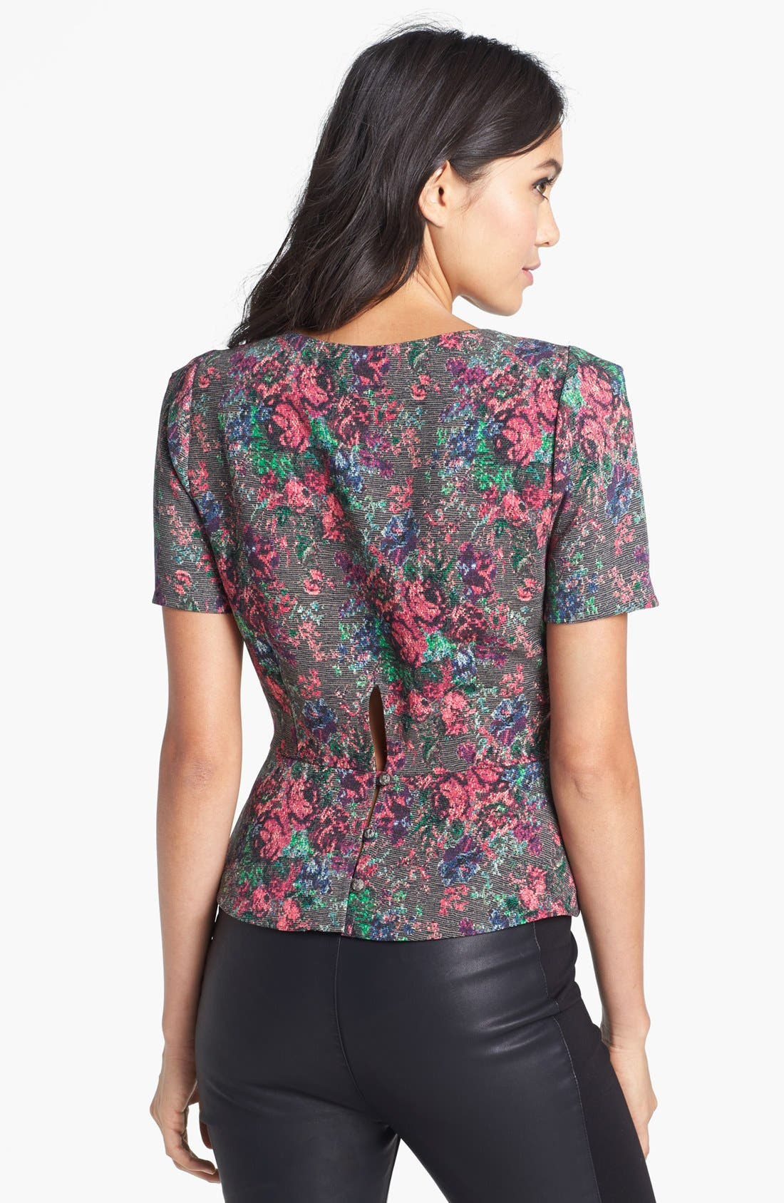 Alternate Image 2  - ASTR Floral Peplum Blouse