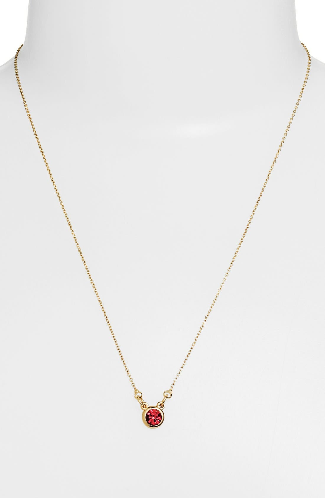 Alternate Image 1 Selected - Stephan & Co. Stone Stud Charm Necklace (Juniors) (Online Only)