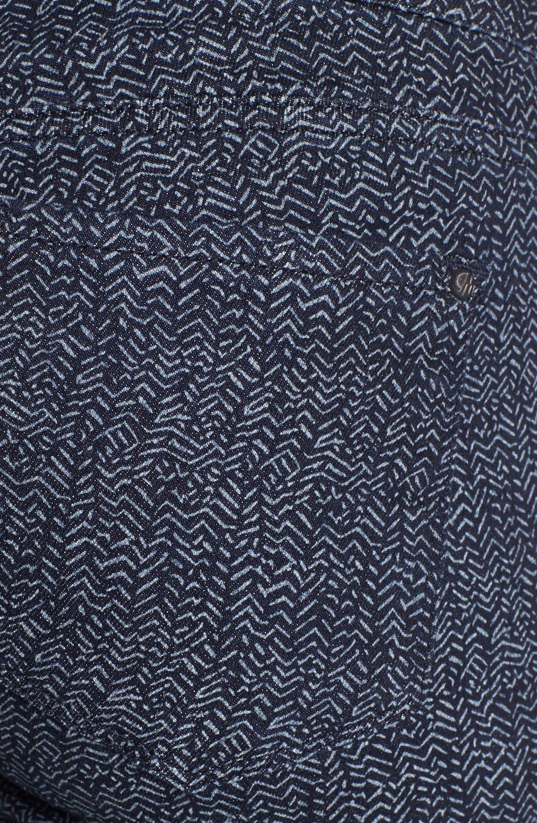 Alternate Image 3  - Mavi Jeans 'Alexa' Print Skinny Jeans (Indigo Geometric)
