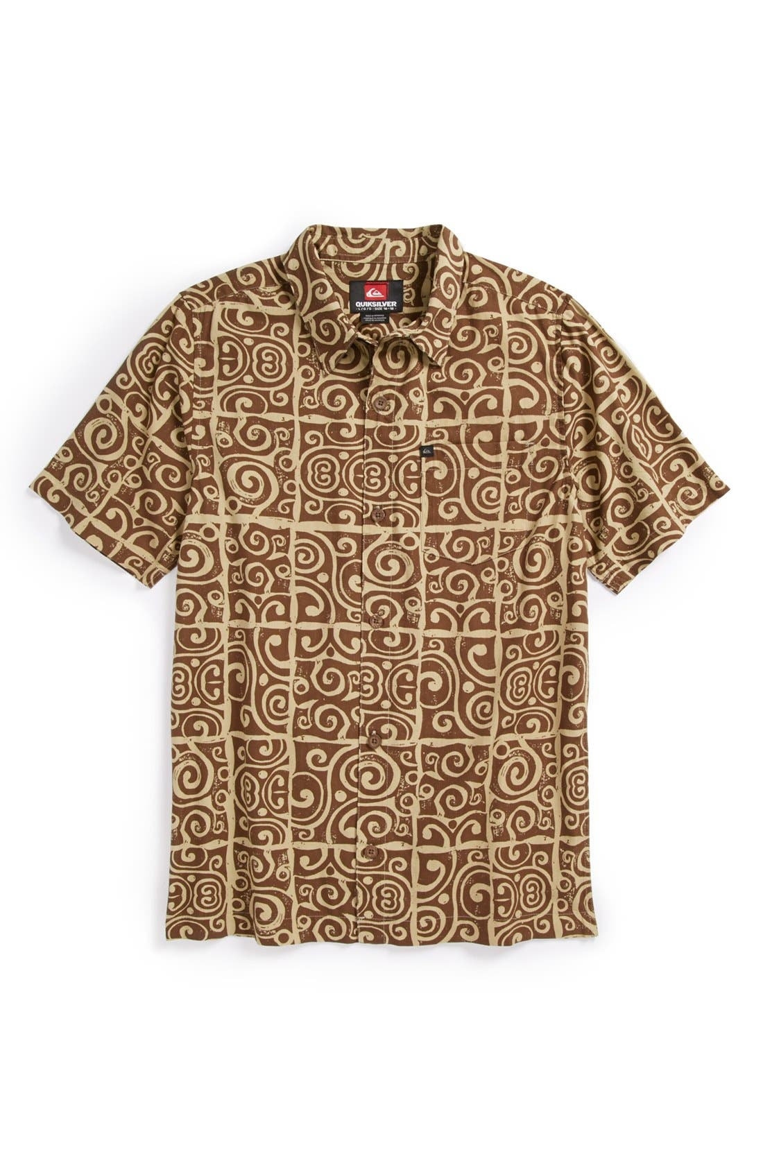 Alternate Image 1 Selected - Quiksilver 'Island Time' Sport Shirt (Little Boys & Big Boys)