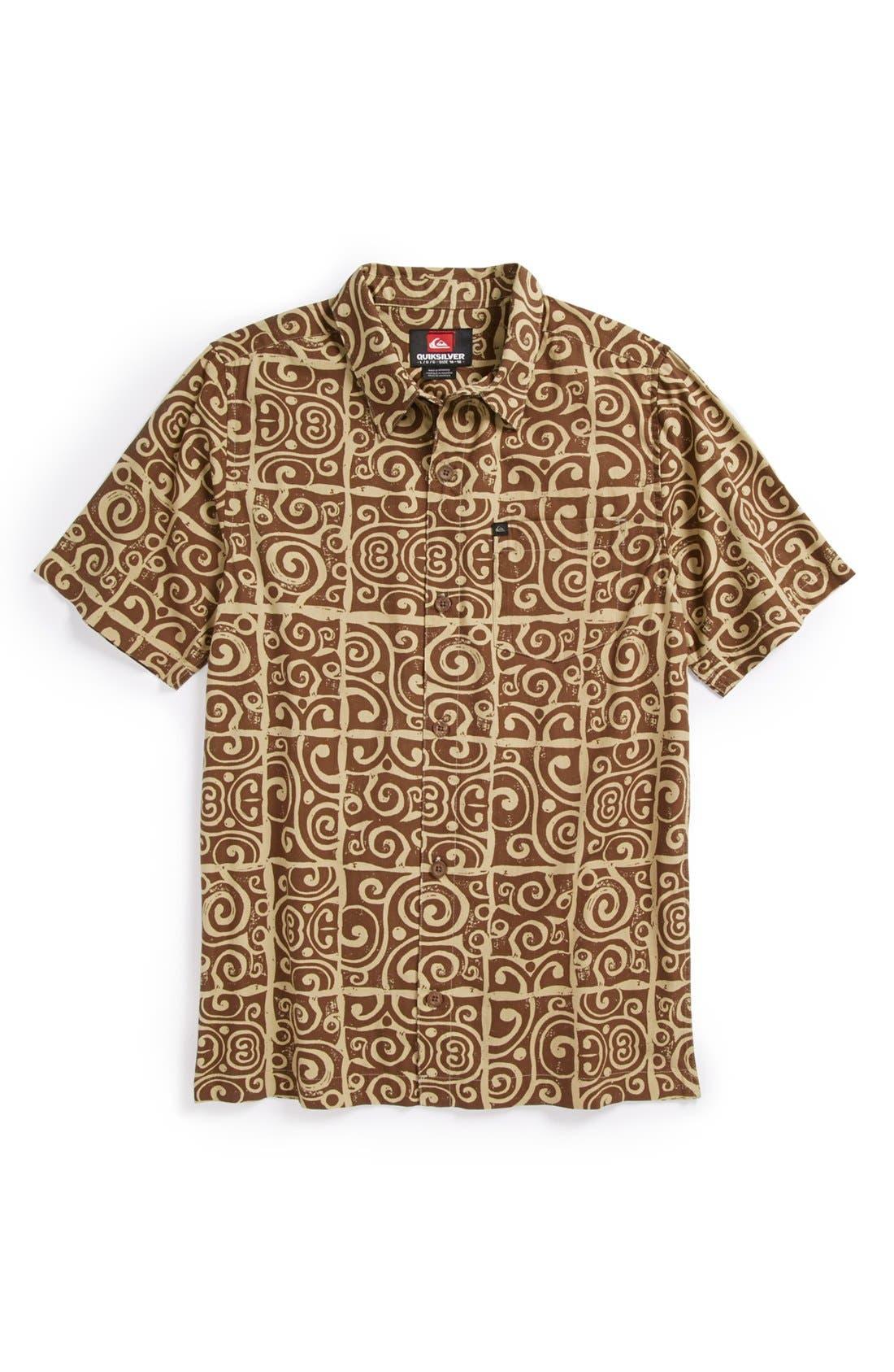 Main Image - Quiksilver 'Island Time' Sport Shirt (Little Boys & Big Boys)