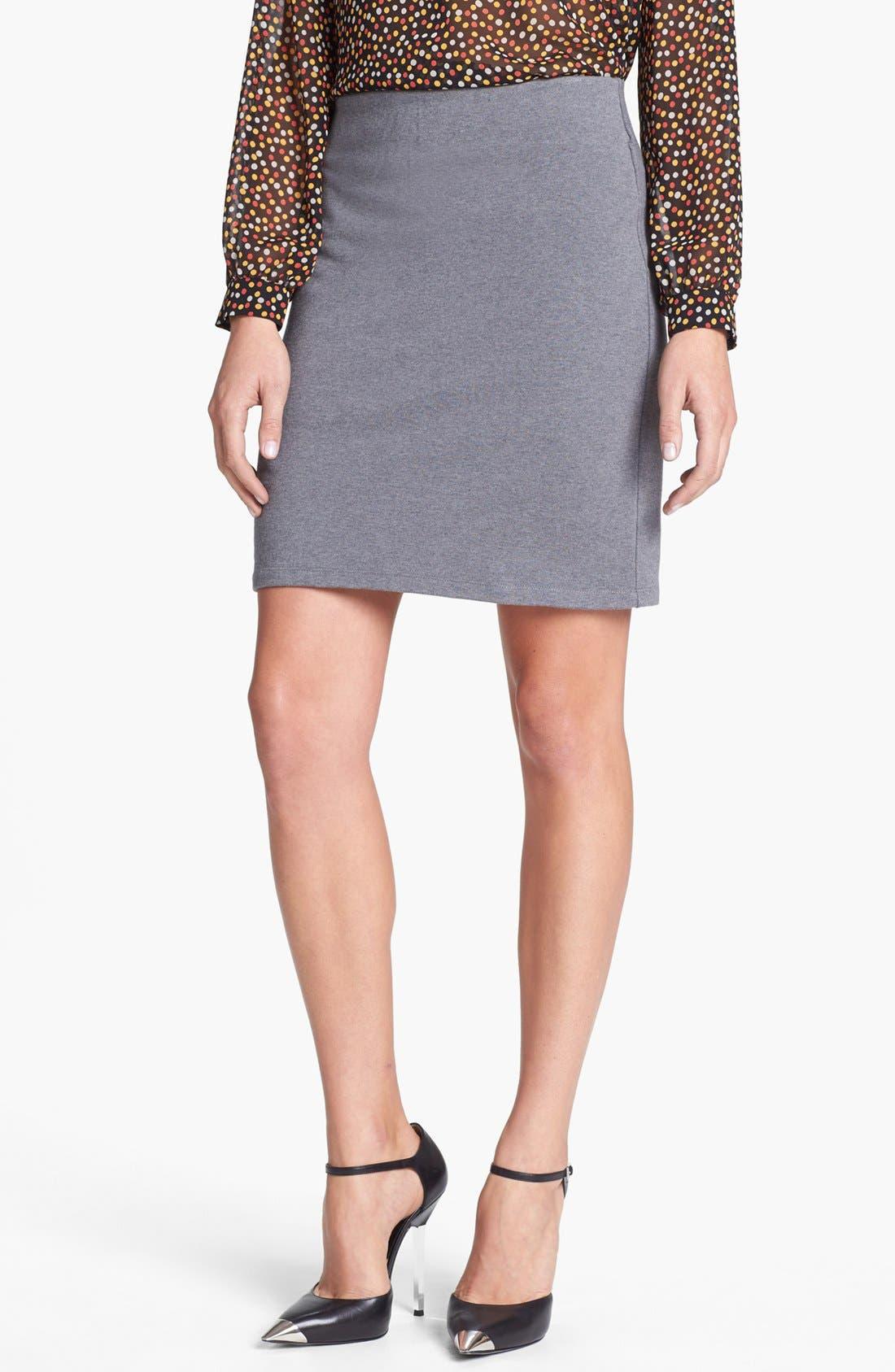 Alternate Image 1 Selected - Halogen® Stripe French Terry Skirt