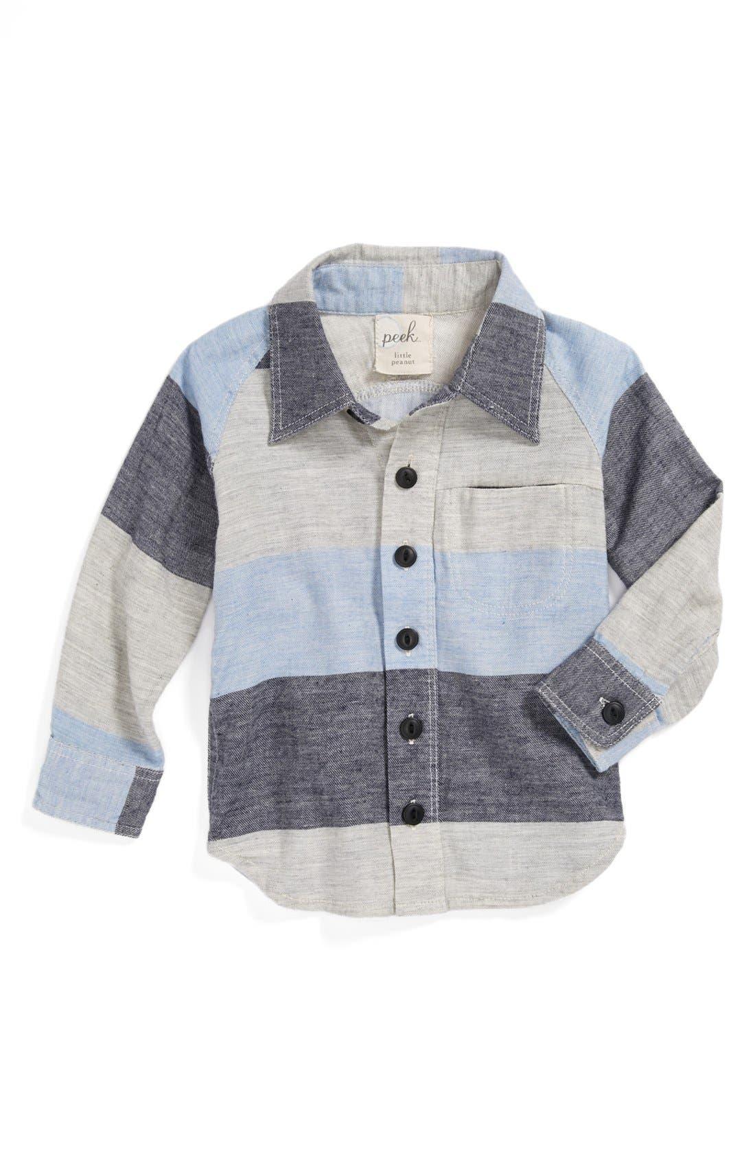Alternate Image 1 Selected - Peek 'Juan' Stripe Shirt (Baby Boys)