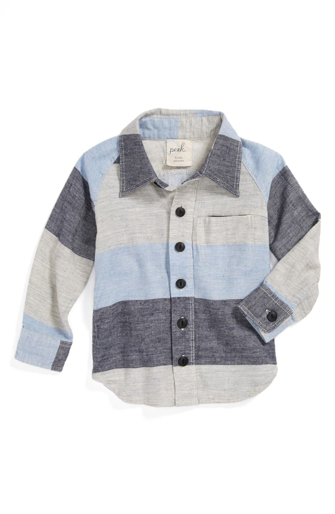 Main Image - Peek 'Juan' Stripe Shirt (Baby Boys)
