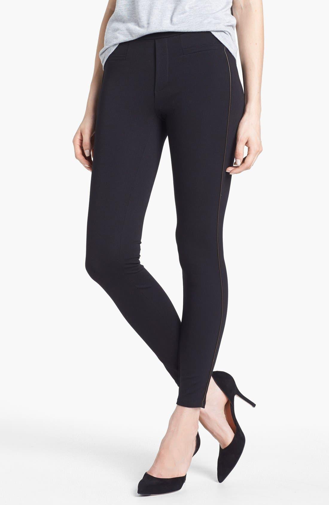 Alternate Image 1 Selected - Ella Moss 'Sandra' Faux Leather Trim Leggings