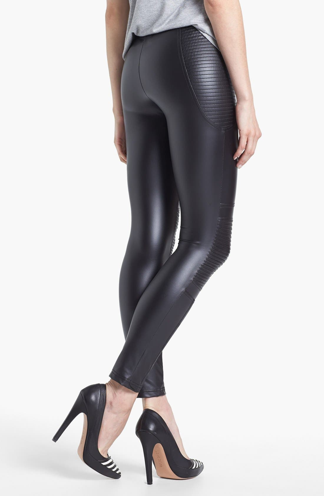 Alternate Image 2  - MINKPINK 'Vroom Vroom' Faux Leather Leggings
