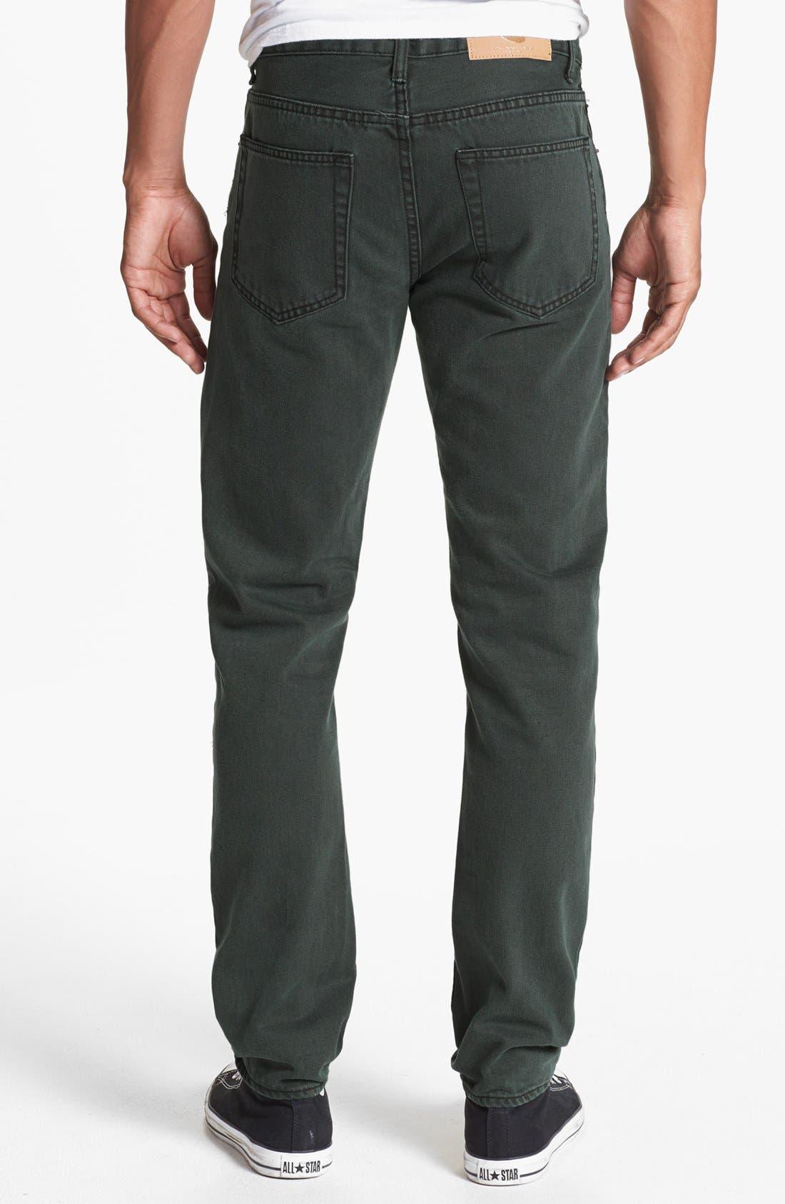 Alternate Image 1 Selected - Cheap Monday High Slim Straight Leg Jeans (Black Night)