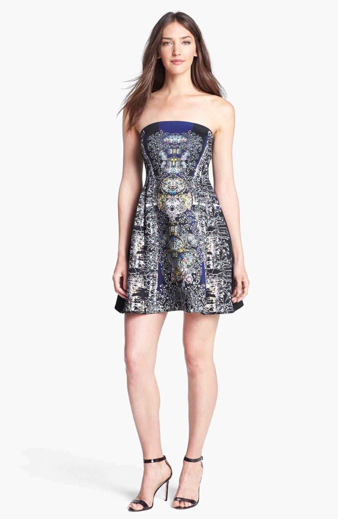 Main Image - Clover Canyon 'Russian Enamel' Scuba Fit & Flare Dress
