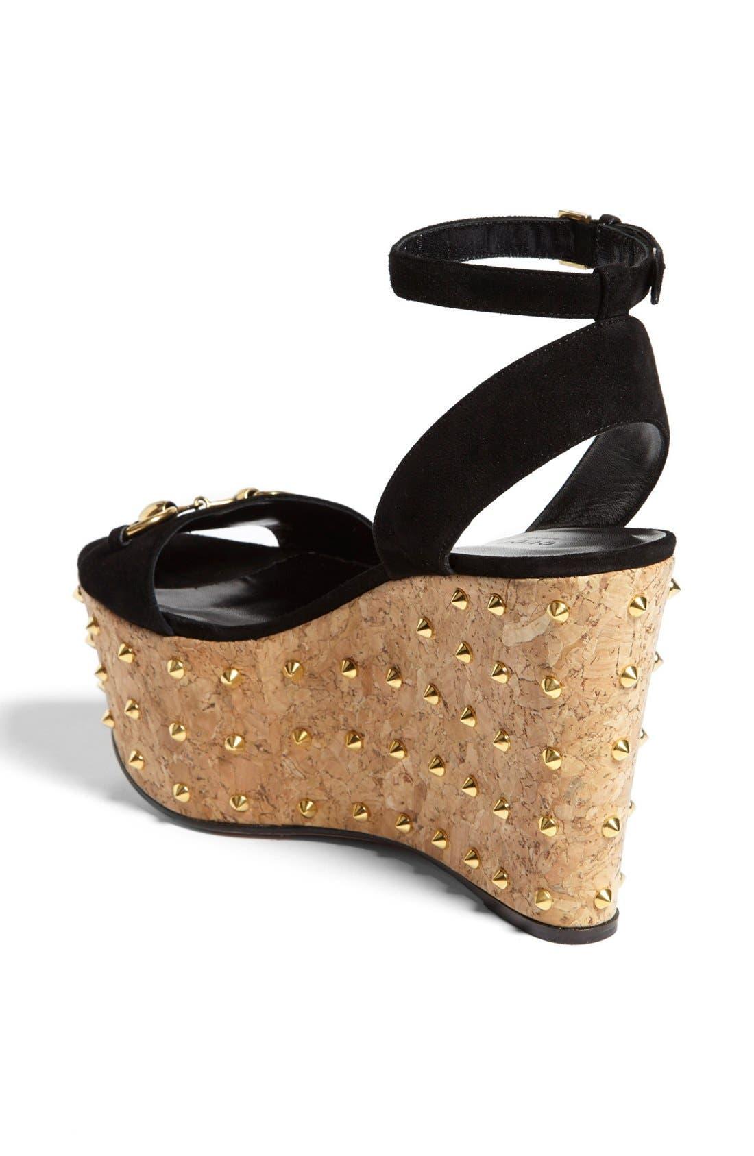 Alternate Image 2  - Gucci 'Liliane' Studded Platform Sandal