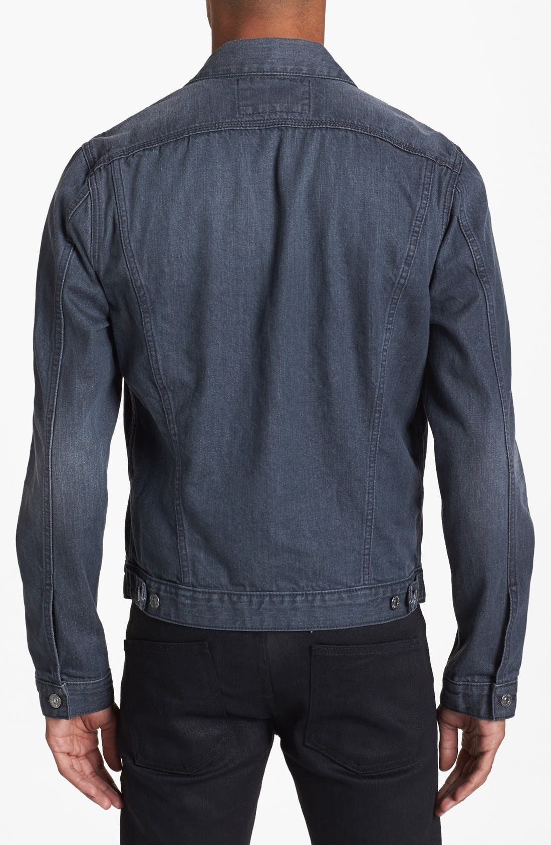 Alternate Image 2  - 7 For All Mankind® Grey Denim Jacket