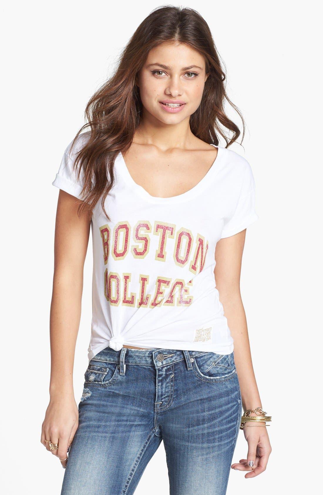 Alternate Image 1 Selected - Retro Brand 'Boston College' Graphic Tee (Juniors)
