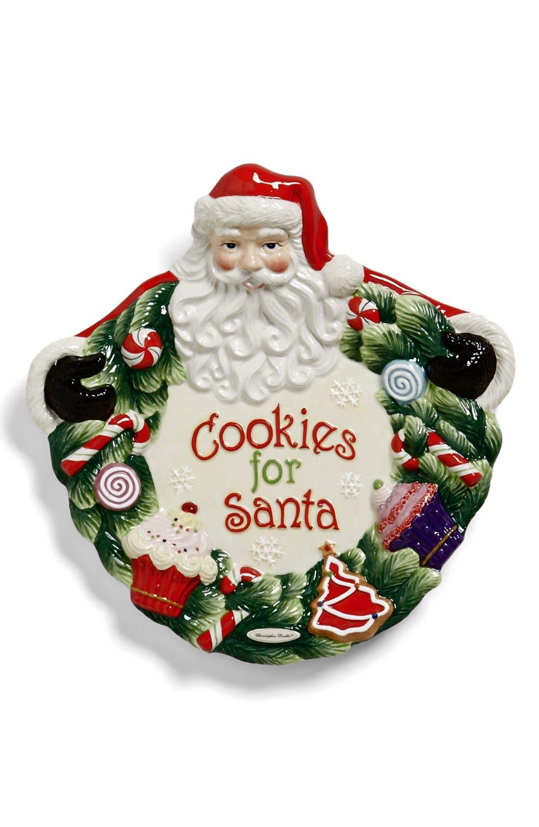 Alternate Image 1 Selected - Christopher Radko 'Cookies for Santa' Ceramic Plate