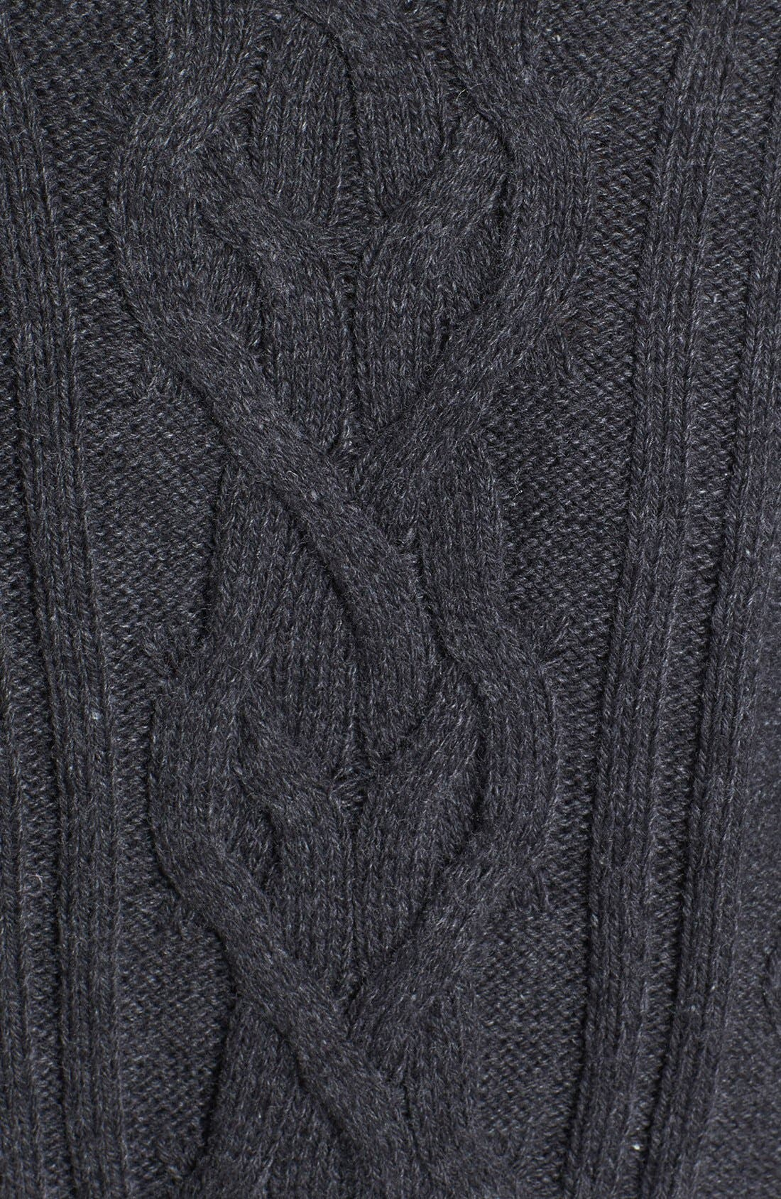 Alternate Image 3  - Caslon® Cable Knit Sweater