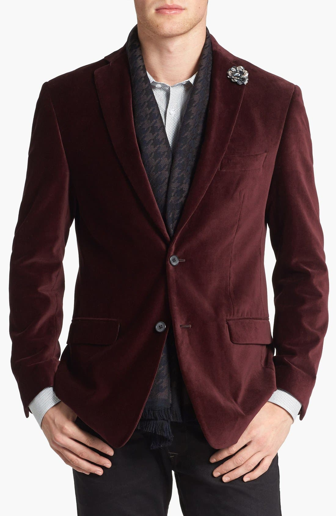 Main Image - Michael Kors Trim Fit Velvet Blazer