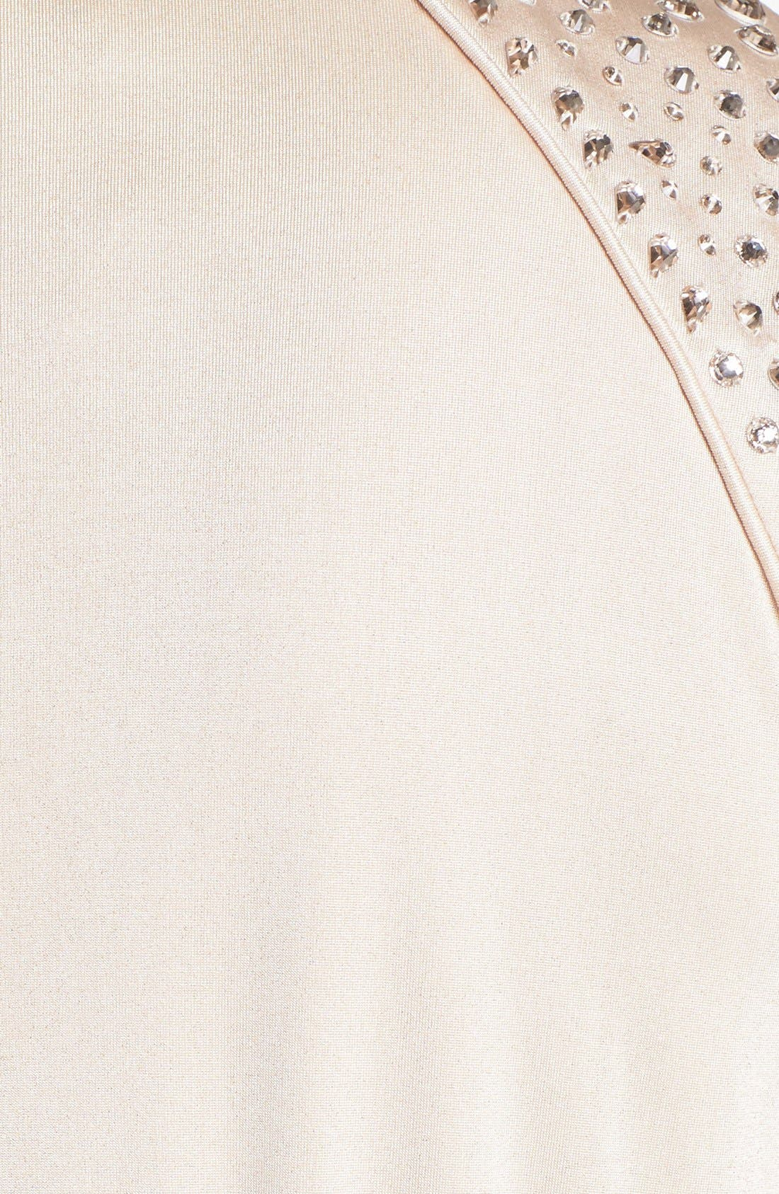 Alternate Image 3  - Vince Camuto Embellished Faux Wrap Dress (Plus Size)