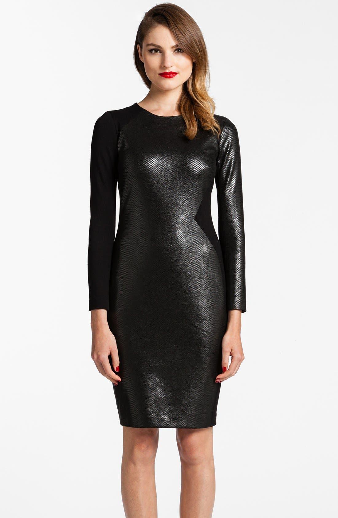 Alternate Image 1 Selected - Cynthia Steffe 'Leni' Faux Leather Body-Con Dress