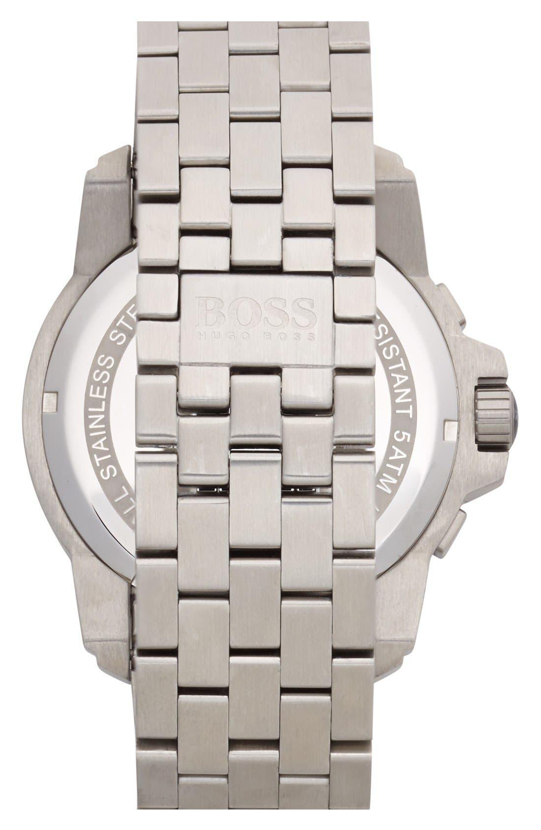 Alternate Image 3  - BOSS HUGO BOSS Chronograph Bracelet Watch, 46mm